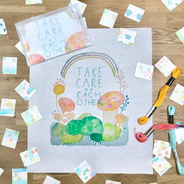 Thread Collective Printed Sampler:  Take Care of Each Other