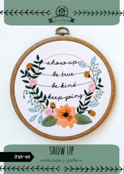 keep going - Iron-on Embroidery Patterns by Cozyblue