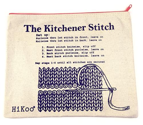 Kitchener Stitch Zip Bag