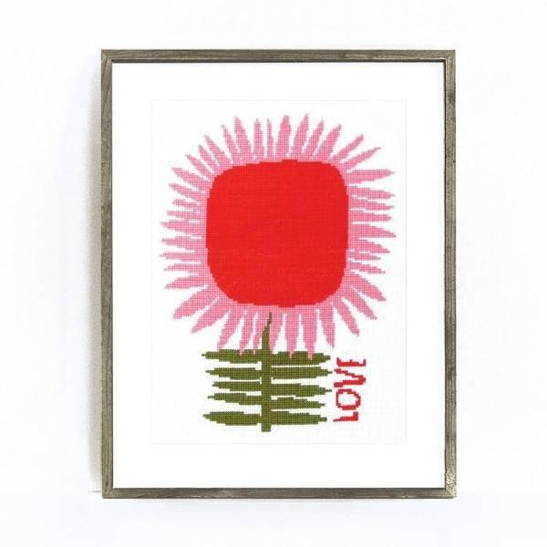 Love Cross Stitch Kit by Budgie Goods