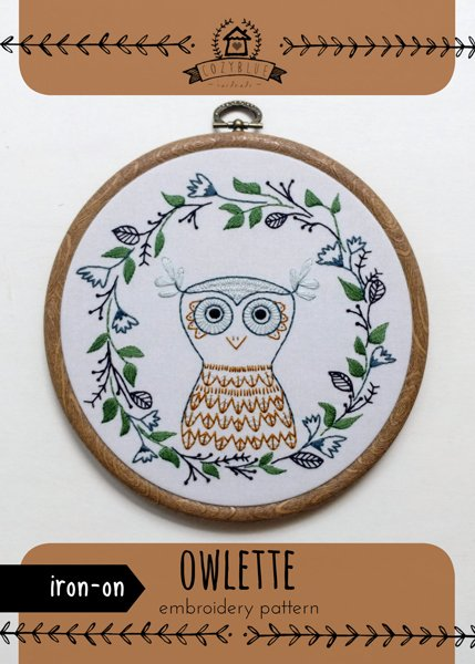 owlette - Iron-on Embroidery Patterns by Cozyblue