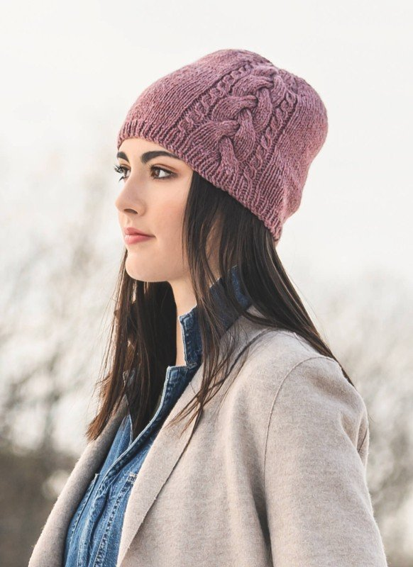 Claremont Cabled Hat by Blue Sky Fibers