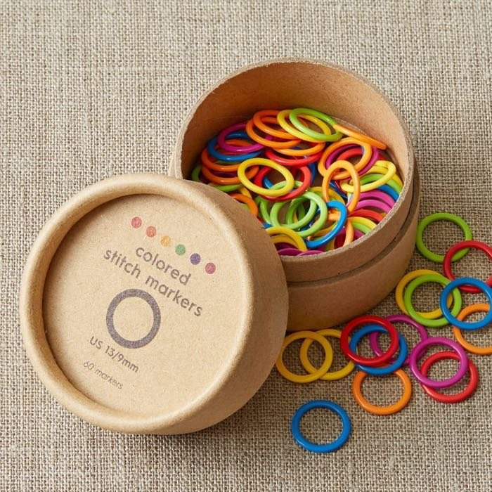 Colored Ring Stitch Markers / Cocoknits