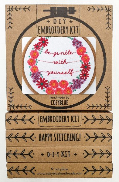 Be Gentle Embroidery Kit / Cozyblue