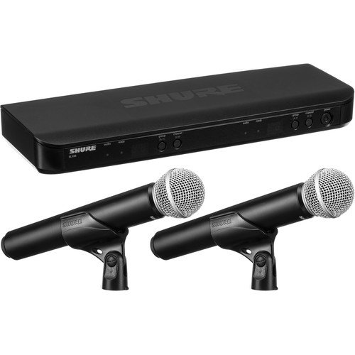 Shure BLX288/PG58 Dual Channel Wireless Handheld Microphone System - H9 Band
