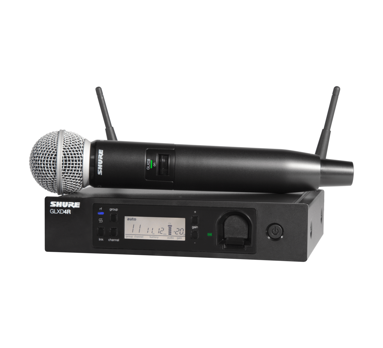 Shure GLXD24R/SM58 Digital Wireless Handheld Microphone System