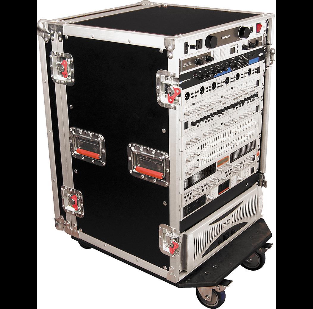 Gator G-TOUR 16U CAST ATA Wood Rack Case with Casters