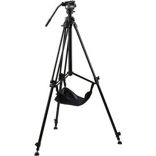 E-Image EG03FA3 Studio Tripod with Geared Center Column and Fluid Head Kit