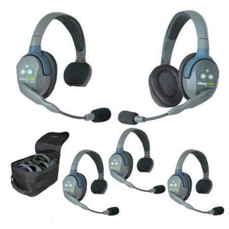 Eartec UltraLITE UL541 Five-Person Headset System with Single-Ear Master Headset