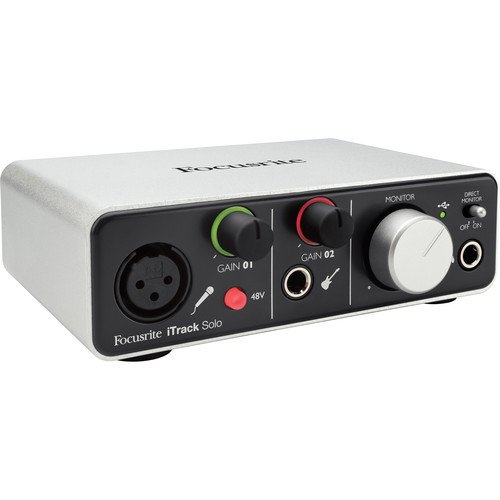 Focusrite iTrack Solo 2-channel Audio Interface with Lightning Connector