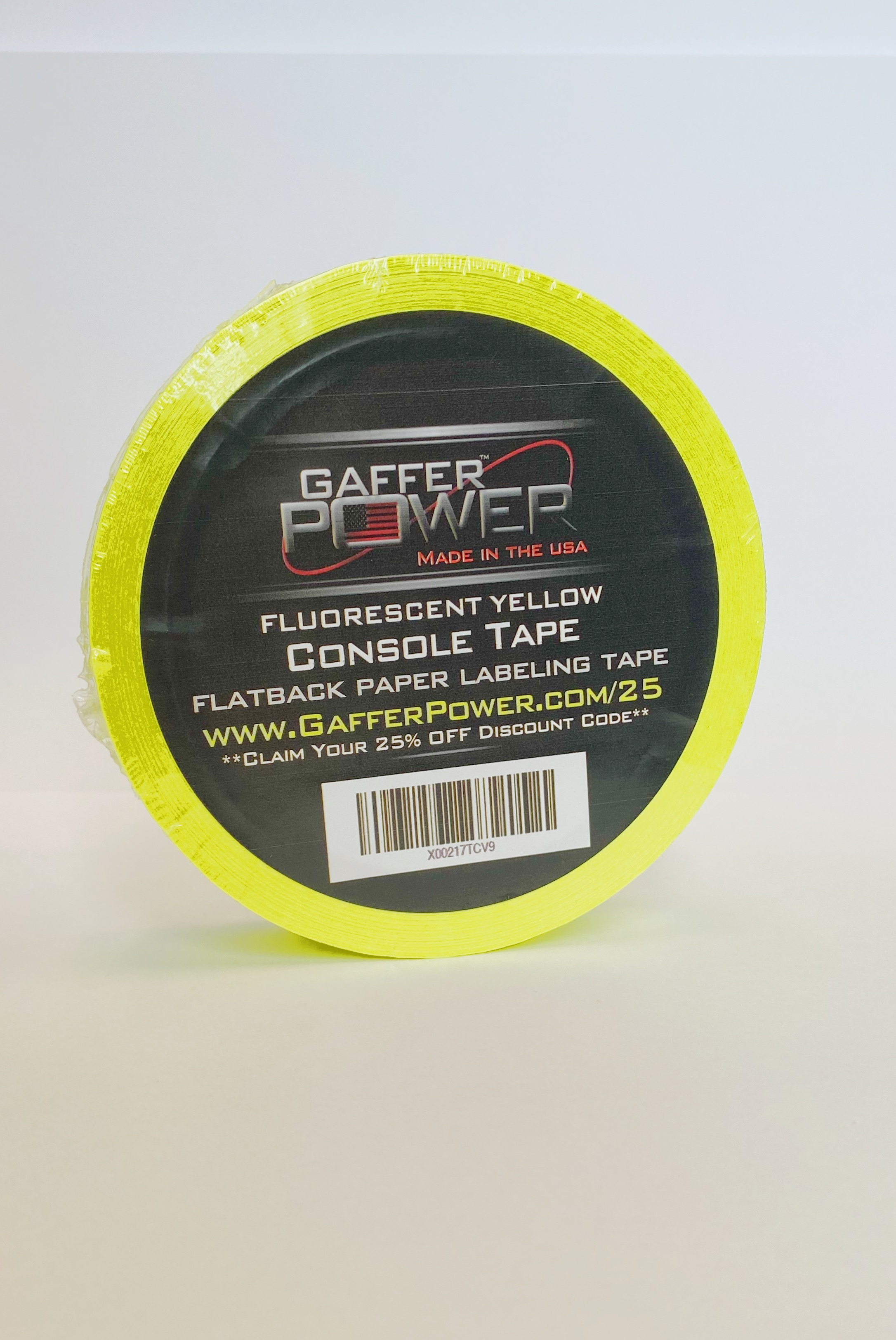 Gaffer Power Gaffer Tape - 1in x 20 Yards - Fluorescent Yellow