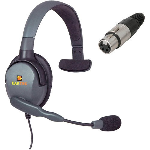 Eartec Max 4G Single Headset with 4-Pin XLR Female Connector