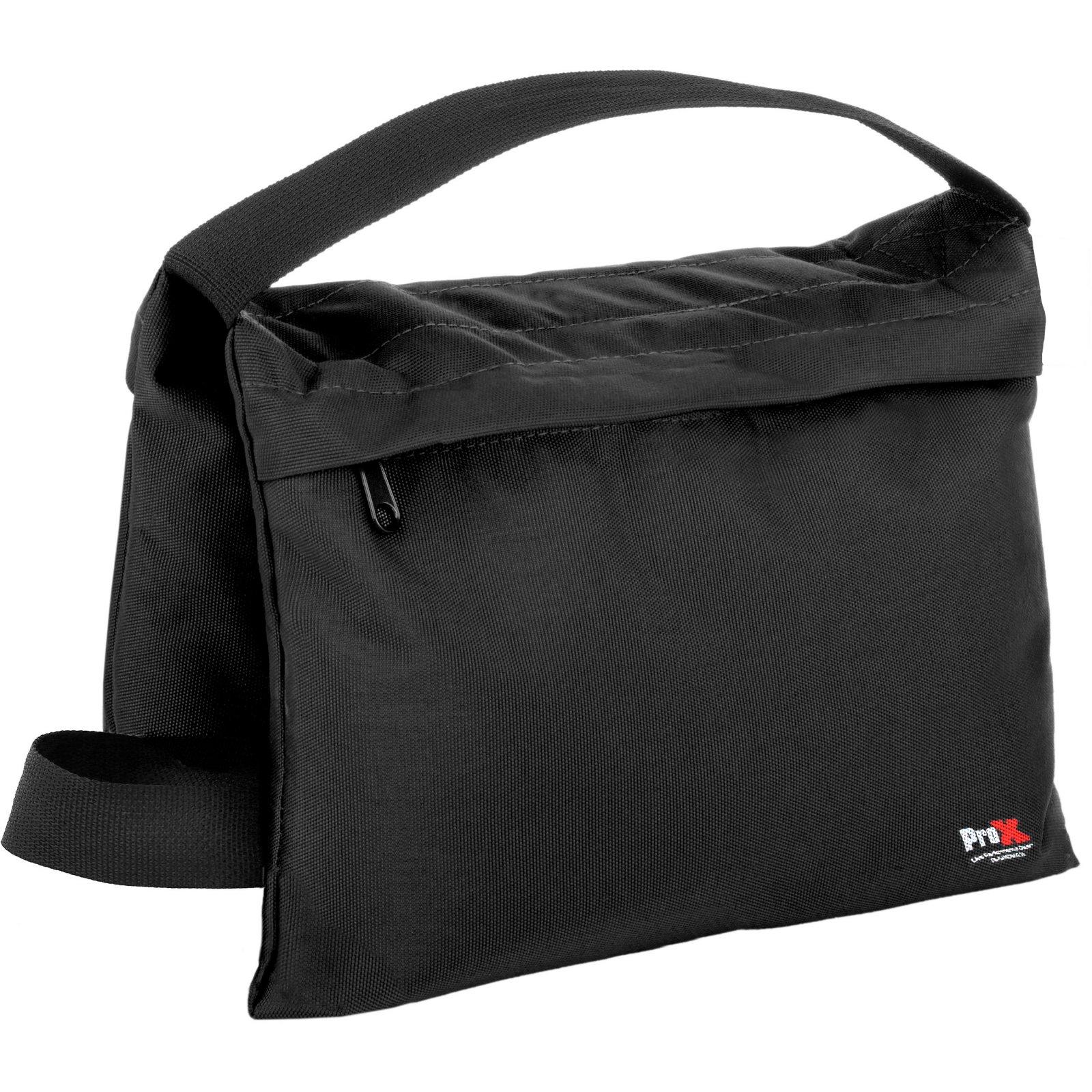 ProX Empty Black Double Zipper Saddlebag Sandbag