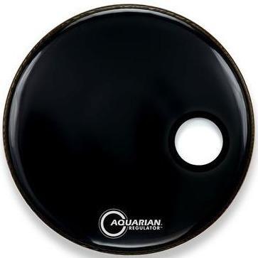 Aquarian Regulator Black with Hole Kick Drum Resonant Head