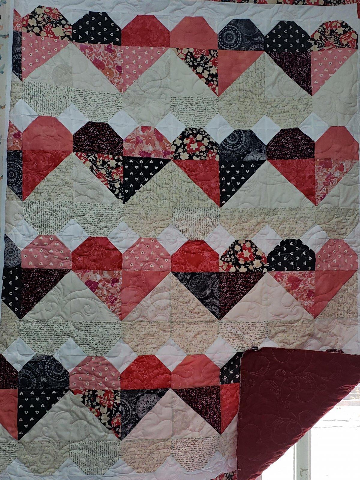 Blended Hearts Quilt Kit