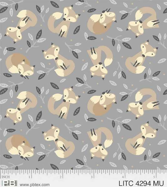 PB Little Critters Foxes on Gray