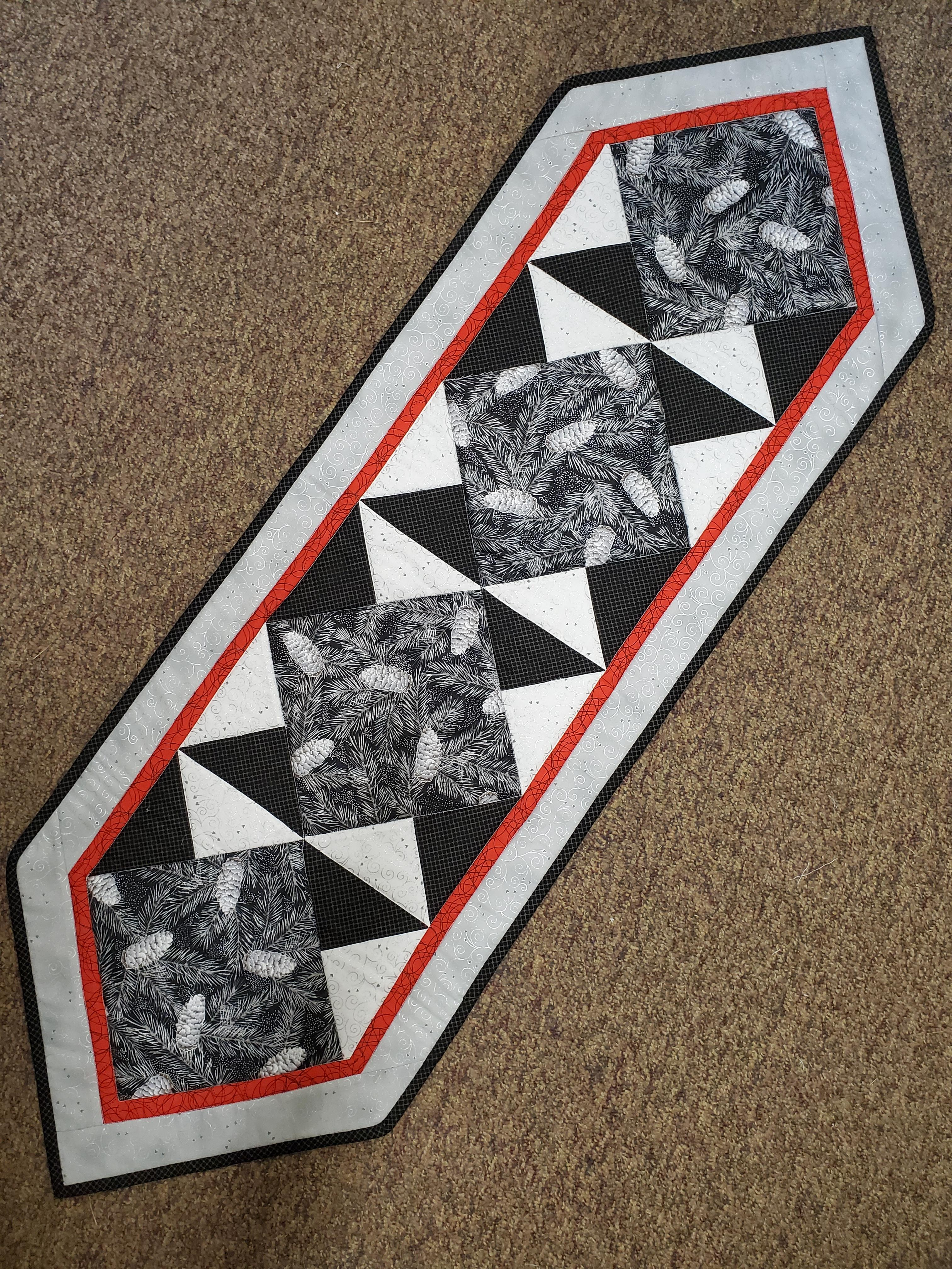 Pine Cones and Fir Table Runner