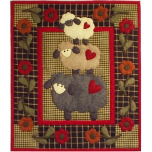Rachel?s of Greenfield - Wooly Sheep Wall Quilt Kit