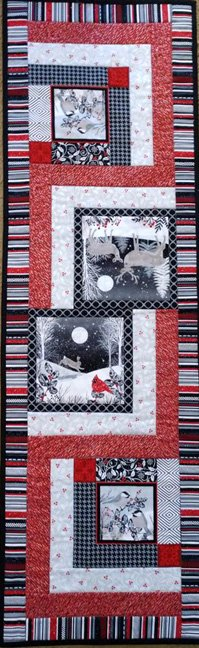 Chickadees and Friends Table Runner