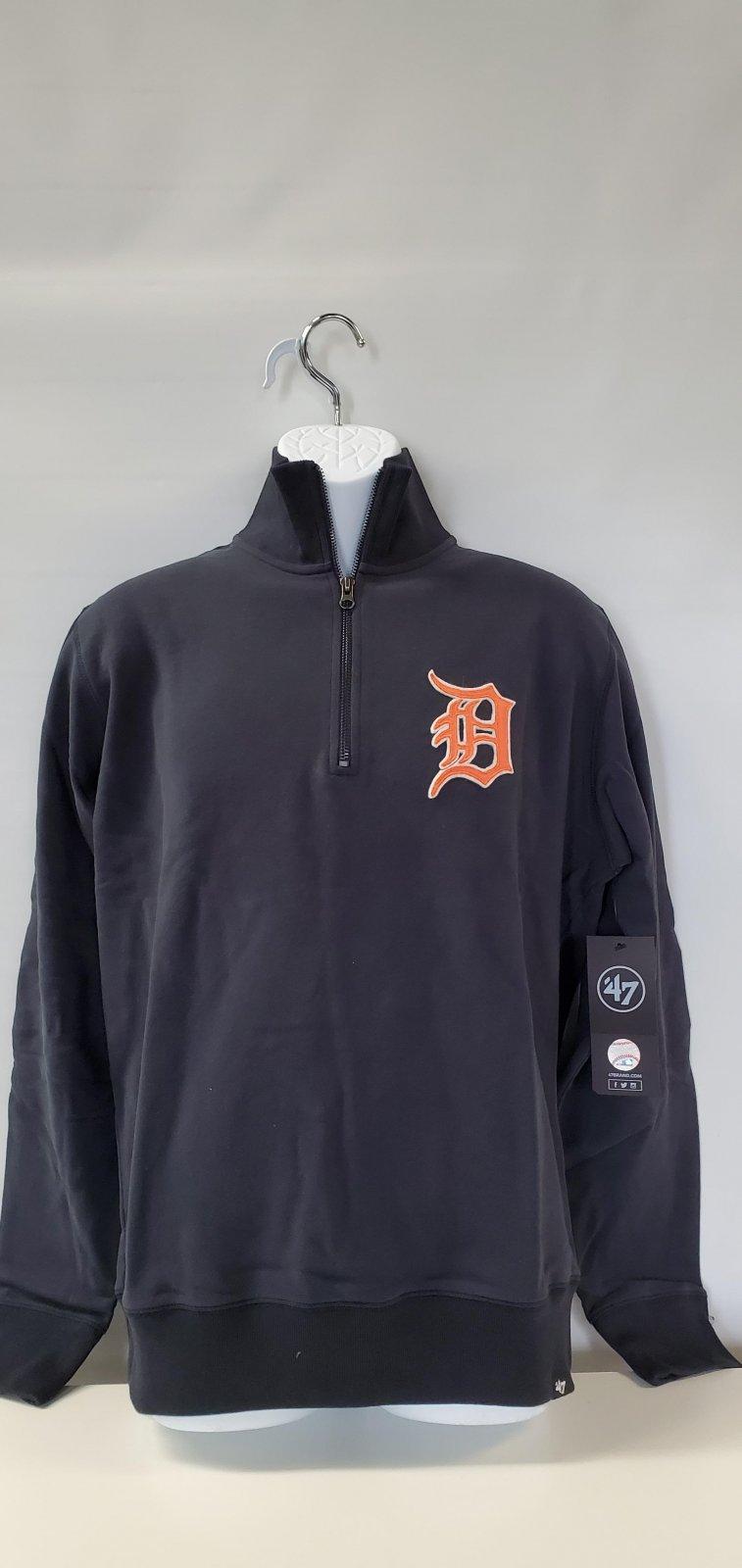 Detroit Tigers Navy Stateside 1/4 Zip Pullover