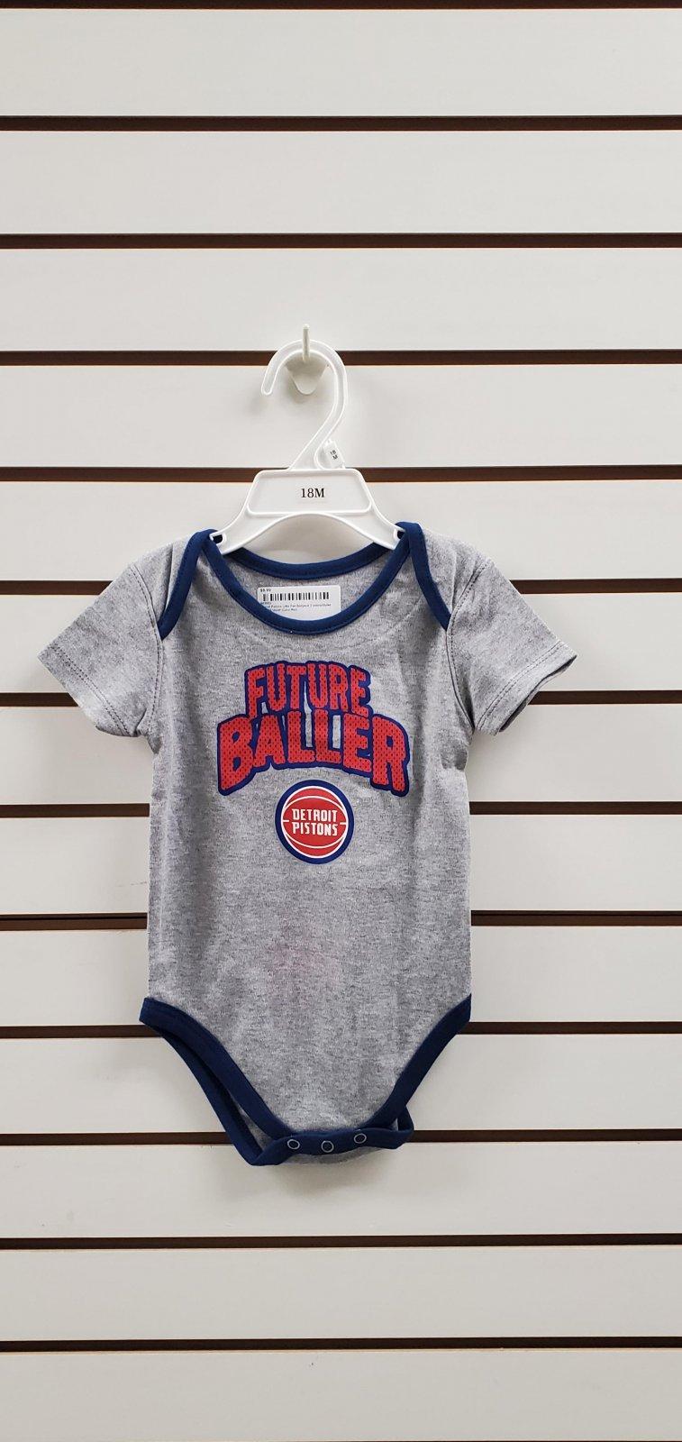Detroit Pistons Little Fan Bodysuit 3 colors/Styles