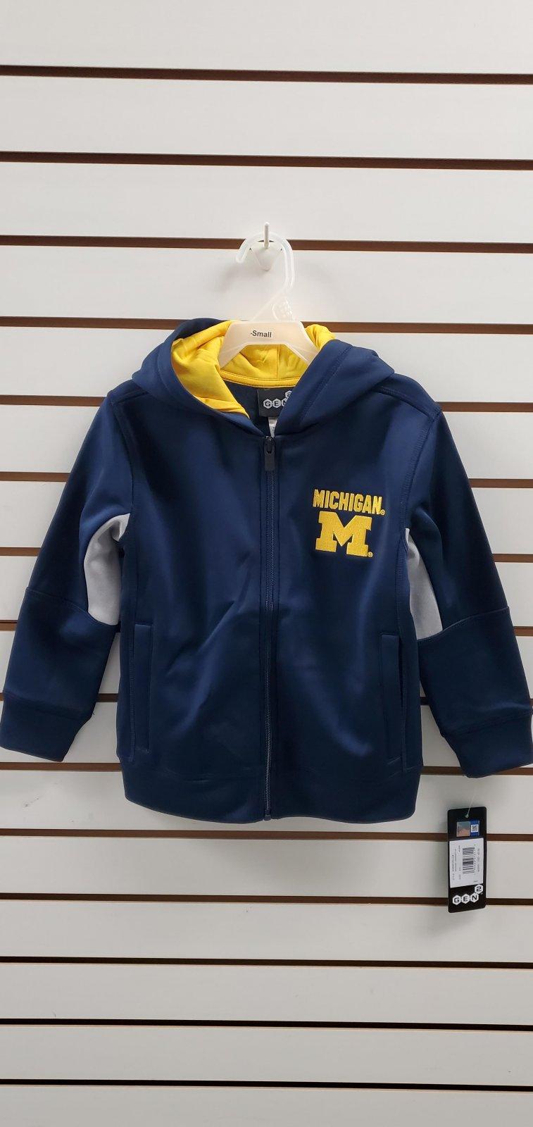 U of M Wolverines Child's Full Zip Hood