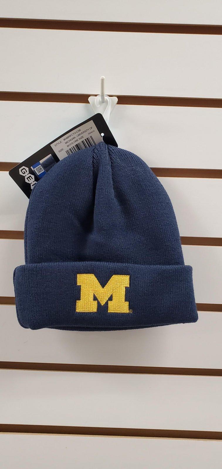 U of M Wolverines Youth Cuff Knit Hat