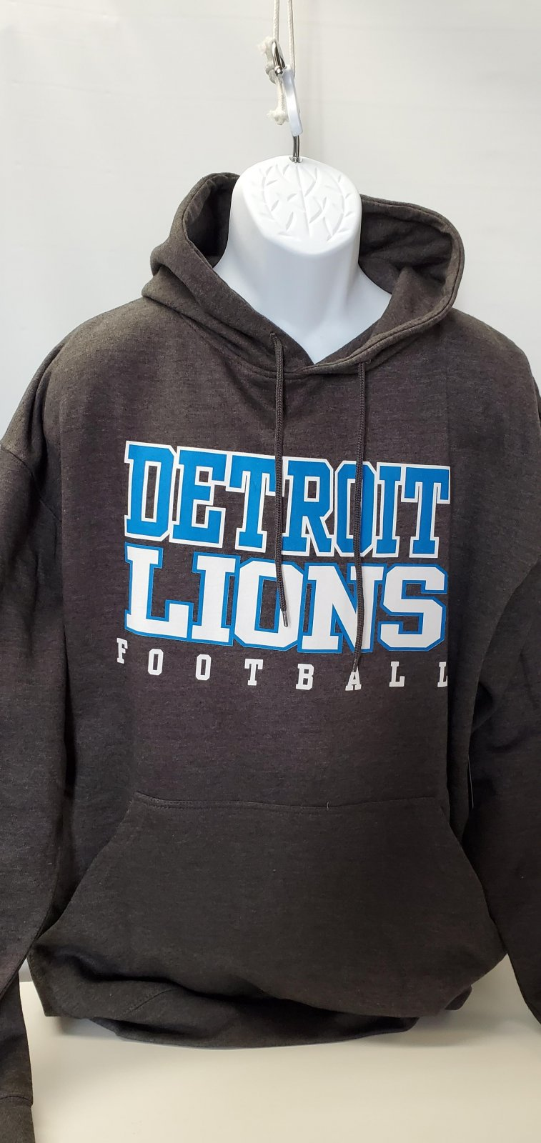 Detroit Lions Extended Hoodie Charcoal