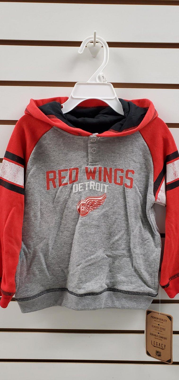Detroit Red Wings Classic Stripe Hoodie