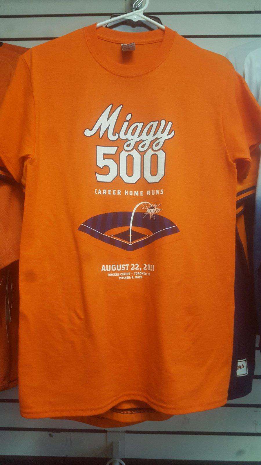 Detroit Tigers Miggy 500 Home Runs Orange Tee