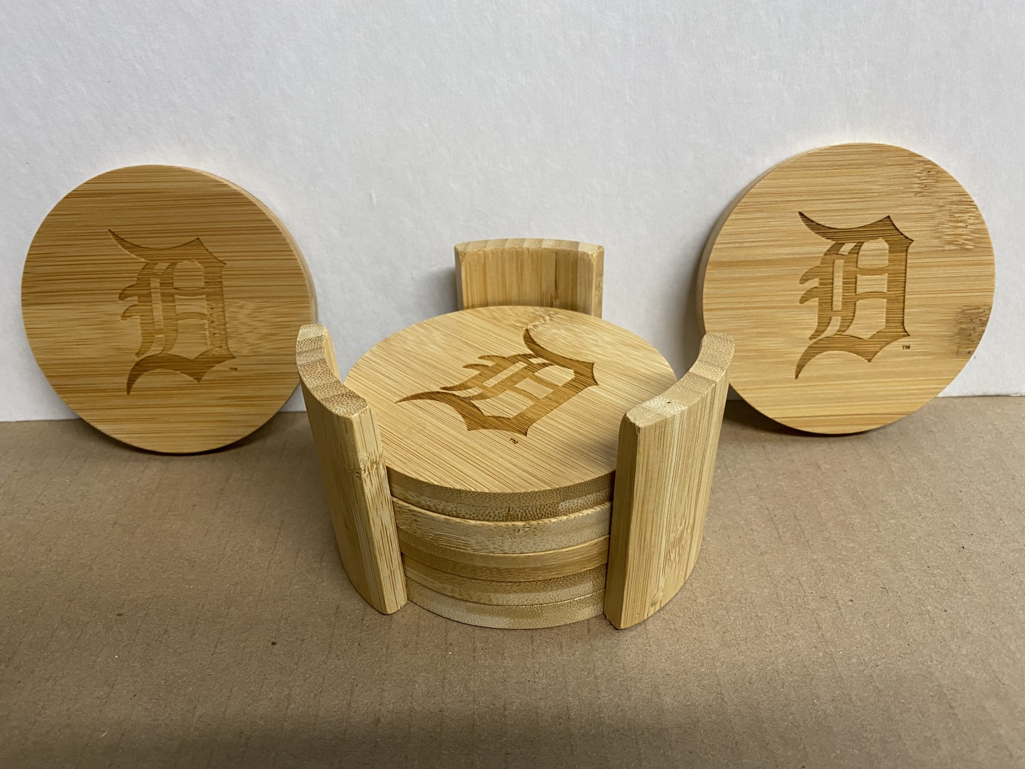 Detroit Tigers Bamboo 7 Piece Set