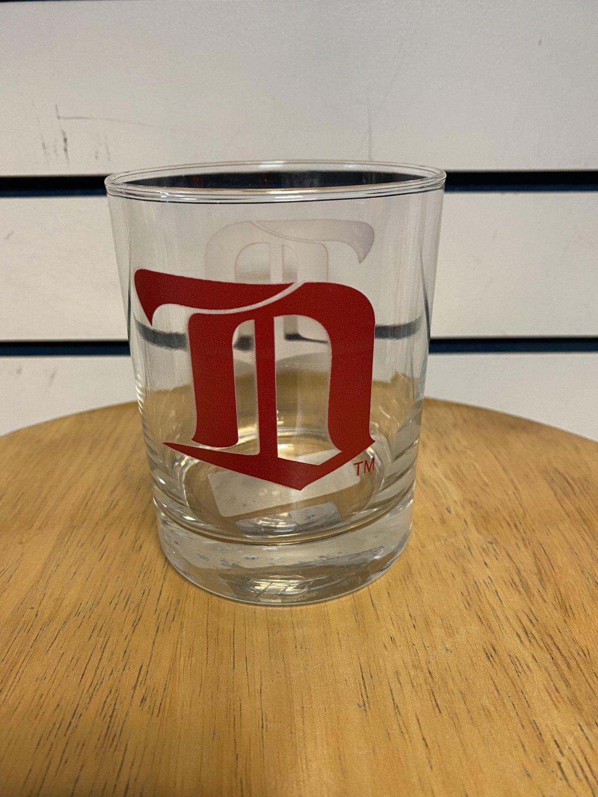 Detroit Red Wings Retro Rocks Glass