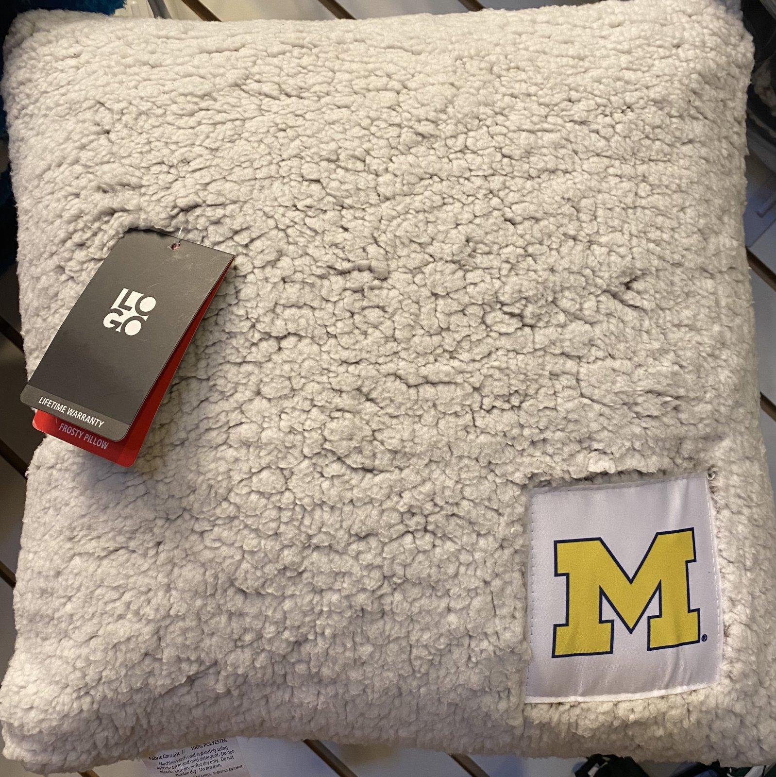 U of M Frosty Freeze Toss Pillow