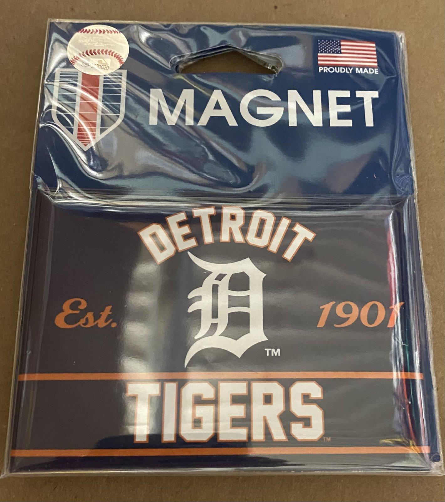 Detroit Tigers 1901 5x3 Magnet