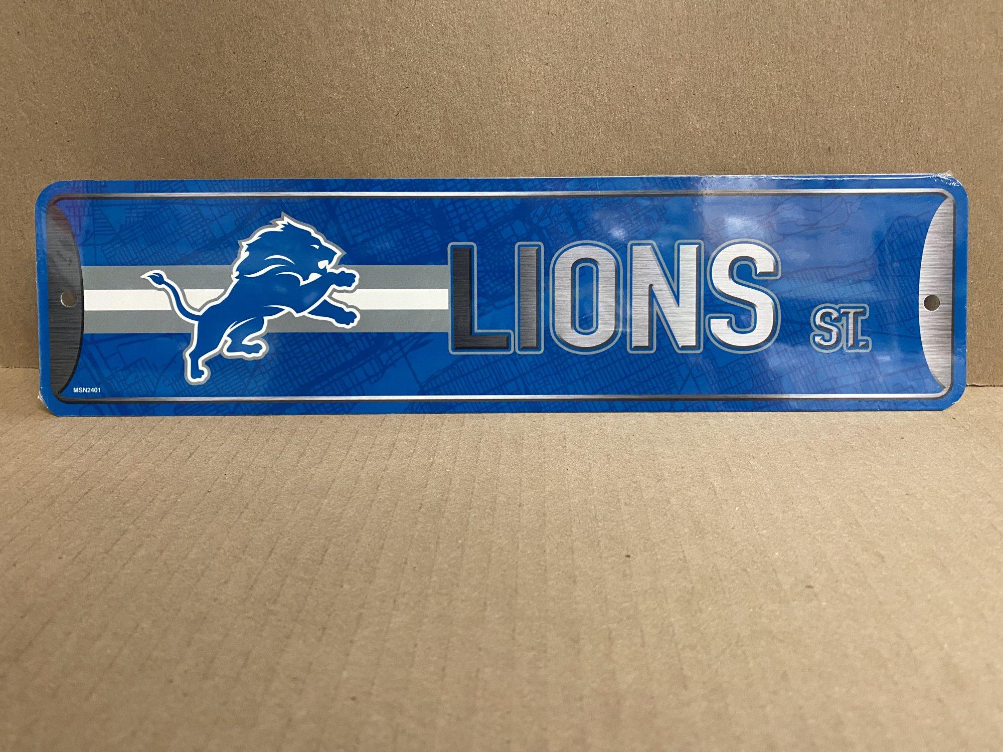 Detroit Lions Street Metal Sign