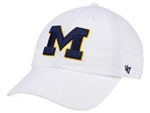 '47 Brand U of M White Clean Up Adjustable Hat
