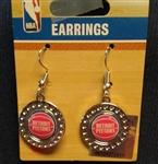 Aminco Detroit Pistons Dimple Circle Earrings