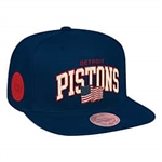 Detroit Pistons Arched Flagged Snapback Hat