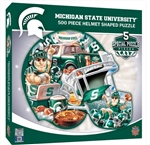 Masterpieces Michigan State University Football Helmet 500 Piece Puzzle