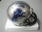 Ndamukong Suh Autographed Detroit Lions Mini Helmet