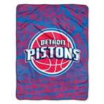 Northwest Detroit Pistons 46 x 60 Redux Plush Throw