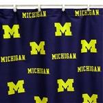 U of M Fabric Shower Curtain