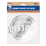 WinCraft Detroit Pistons Chrome Perfect Cut Decal