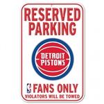 Detroit Pistons Reserved Parking Sign