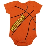 Adidas Michigan Wolverine Basketball Onesie