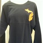 Boxercraft Detroit MI Womens Cotton Jersey Pullover Lounge Shirt
