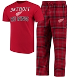 Concepts Sport Detroit Red Wings Halftime T-Shirt and Pant Set