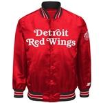 Detroit Red Wings Men's Satin Button Starter Jacket