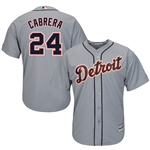 Majestic Detroit Tigers Youth Miguel Cabrera Cool Base Player Jersey