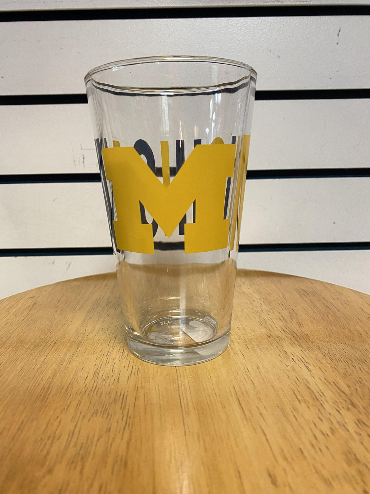 U of M Wolverines Overtime Pint Glass